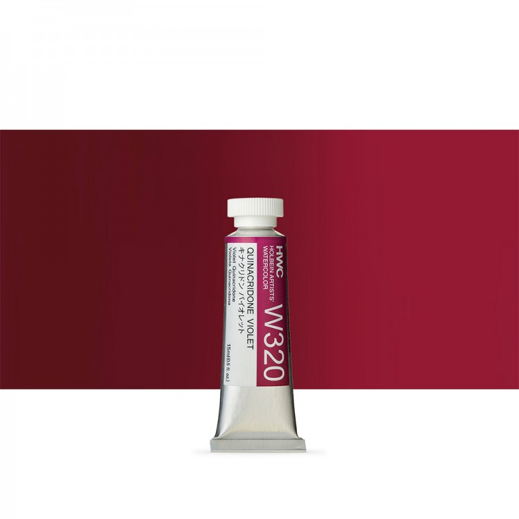 Holbein : Artists' : Watercolour Paint : 15ml : Quinacridone Violet