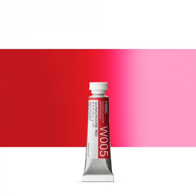 Holbein Watercolour Paint : 5ml : Quinacridone Red