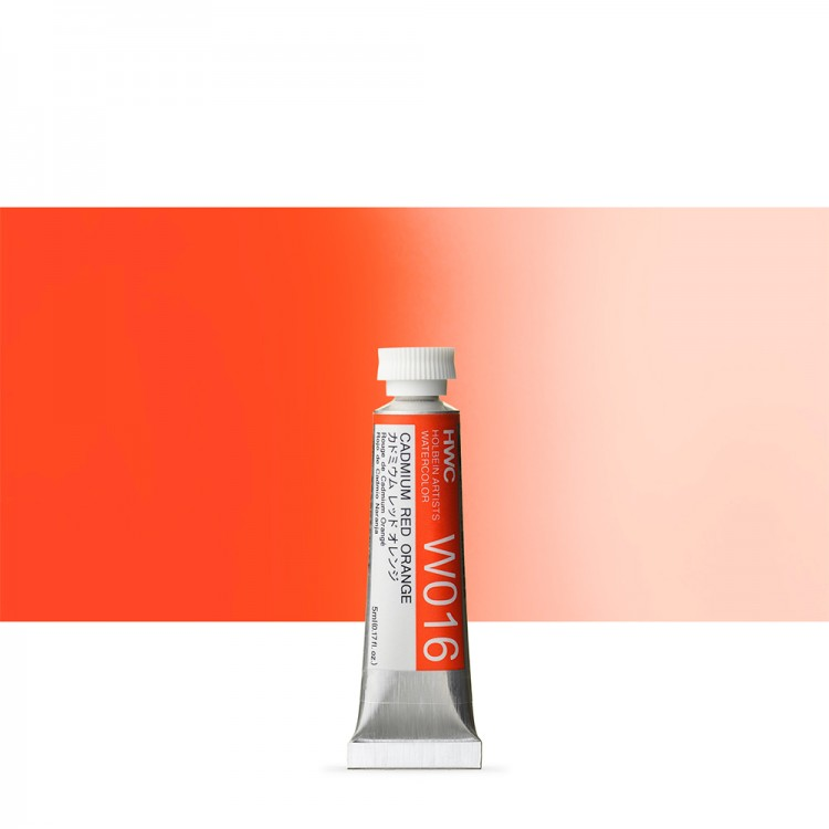 Holbein Watercolour : 5ml Tube CADMIUM RED ORANGE