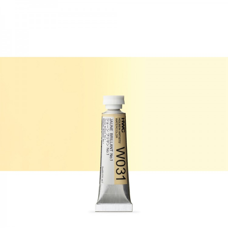 Holbein Watercolour : 5ml Tube JAUNE BRILLIANT 1