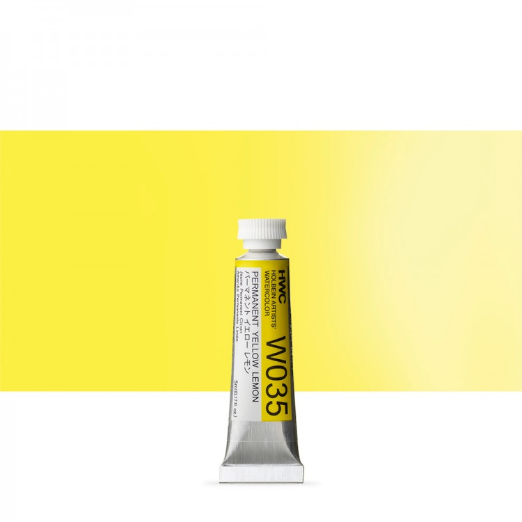 Holbein Watercolour Paint : 5ml Tube Permanent Yellow Lemon
