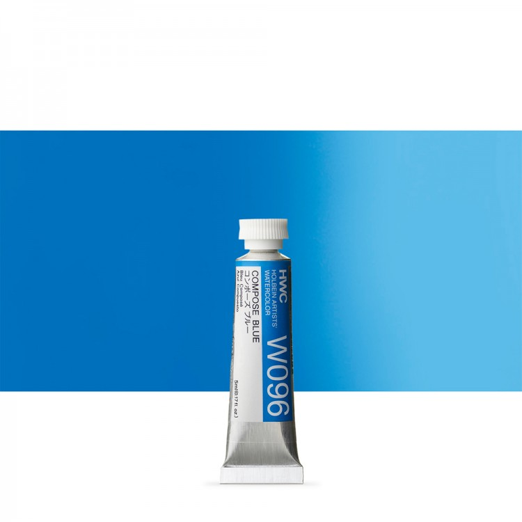 Holbein Watercolour : 5ml Tube COMPOSE BLUE