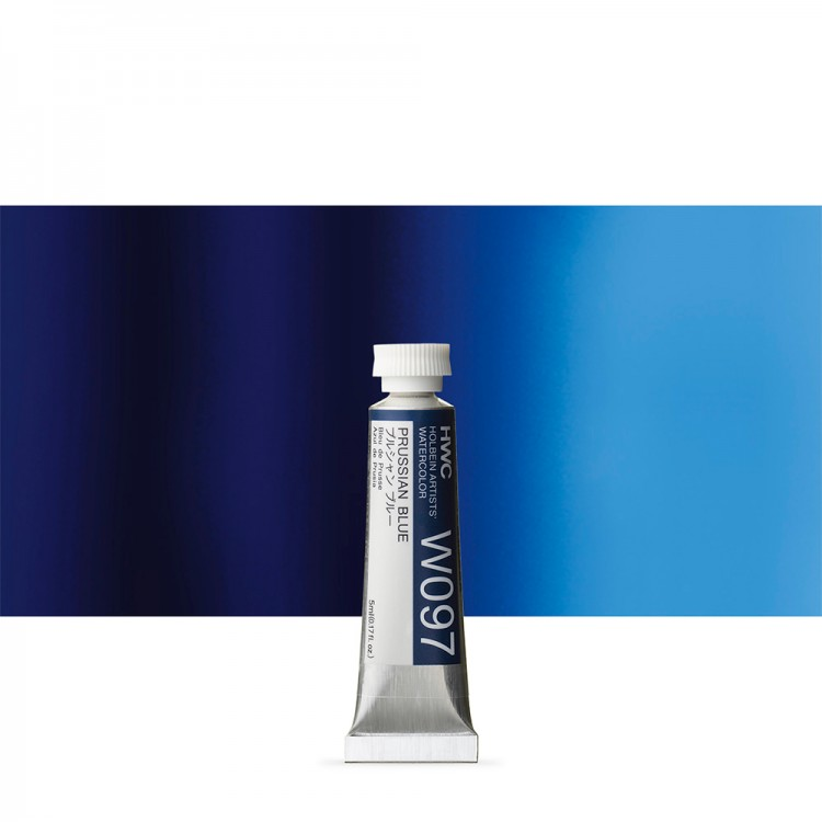 Holbein Watercolour Paint : 5ml Tube Prussian Blue