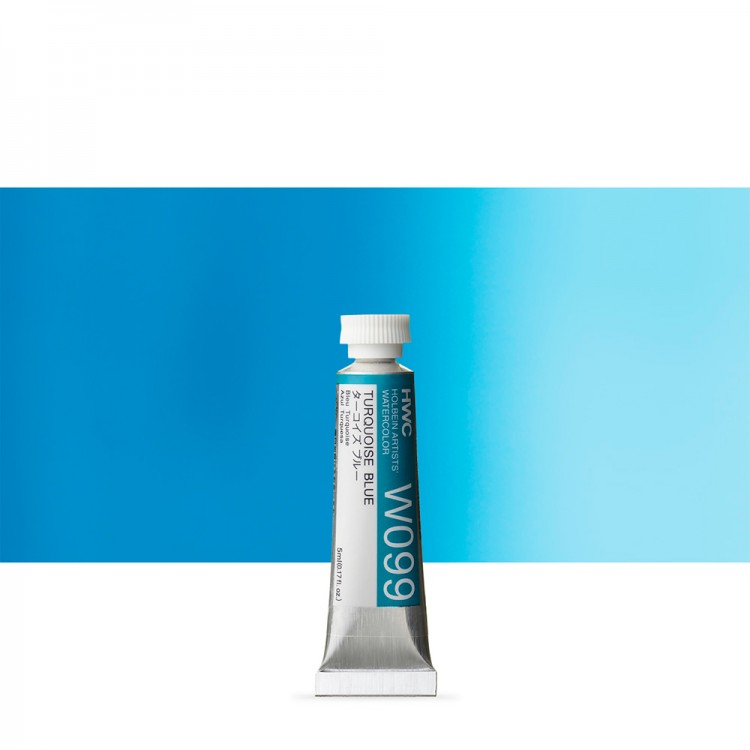 Holbein Watercolour : 5ml Tube TURQUOISE BLUE