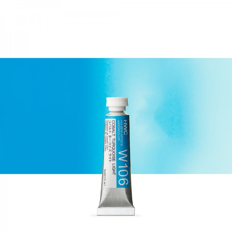 Holbein Watercolour : 5ml Tube COBALT TURQUOISE LIGHT