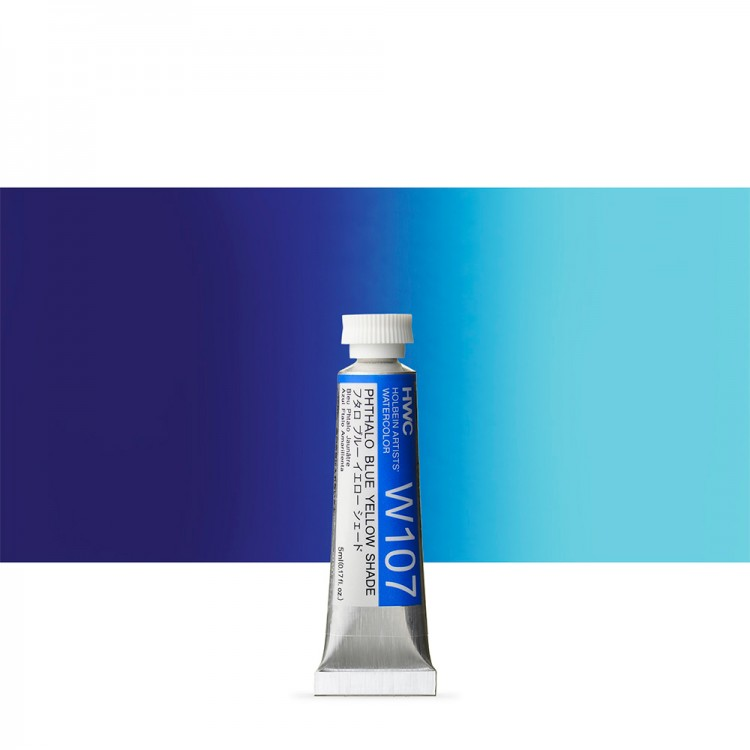 Holbein : Watercolour Paint : 5ml : Tube Phthalo Blue Yellow Shade