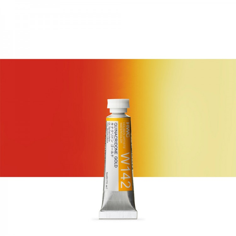 Holbein : Watercolour Paint : 5ml : Tube Quinacridone Gold