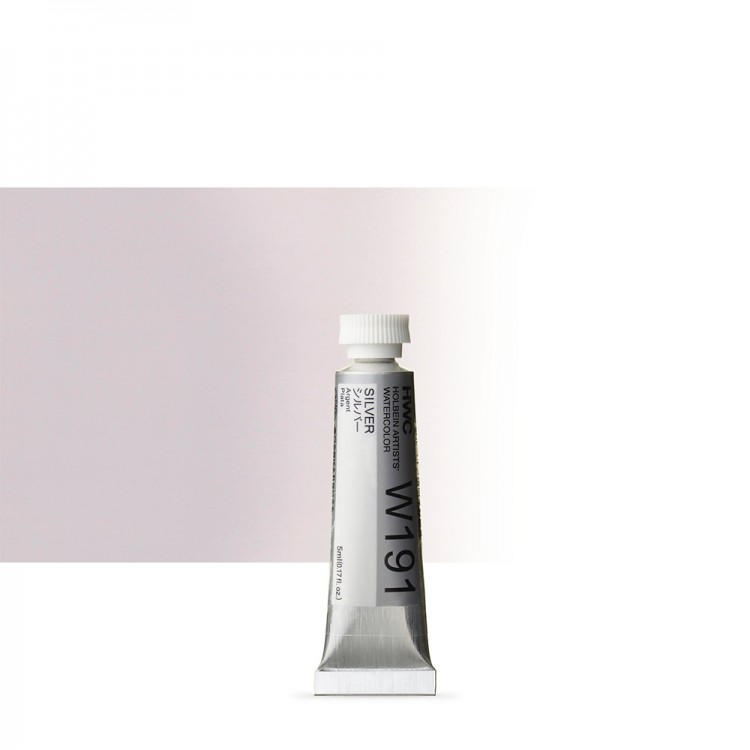 Holbein : Watercolour Paint : 5ml : Tube Silver