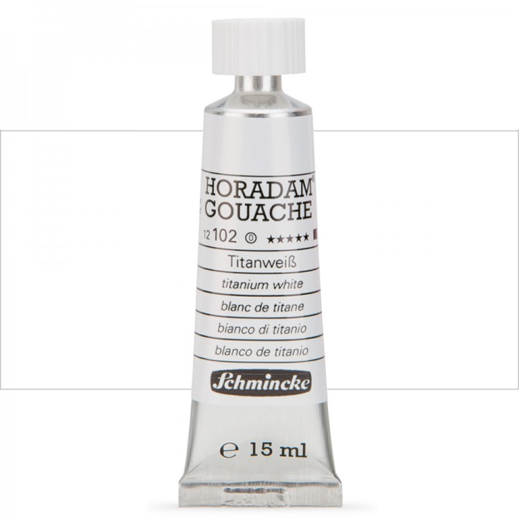 Schmincke : Horadam Gouache Paint : 15ml : Titanium White