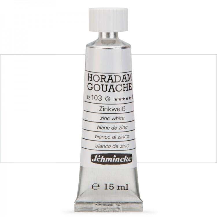 Schmincke : Horadam Gouache Paint : 15ml : Zinc White