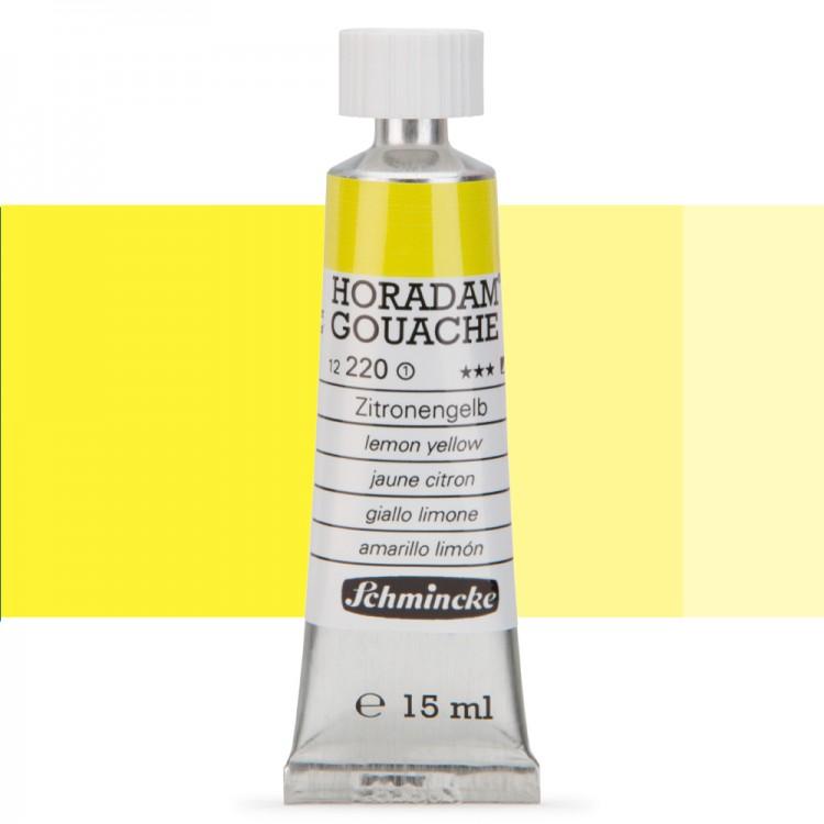 Schmincke : Horadam Gouache Paint : 15ml : Lemon Yellow