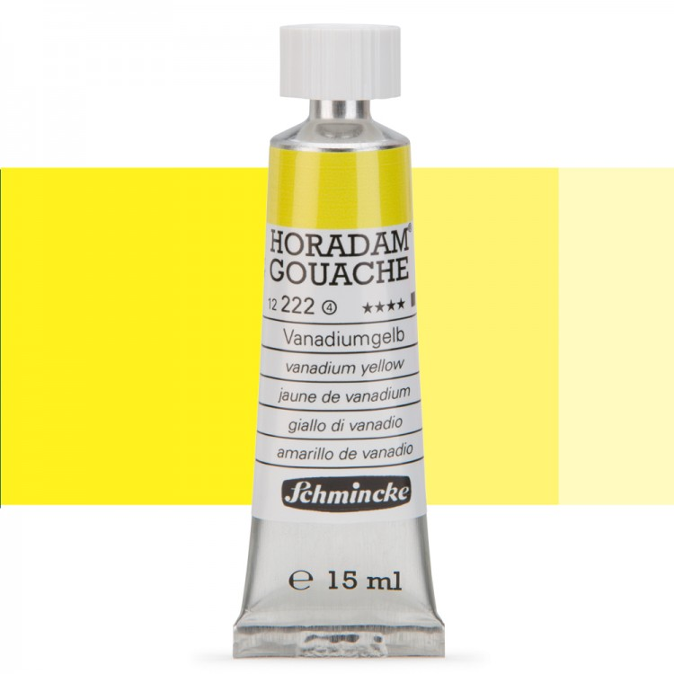 Schmincke : Horadam Gouache Paint : 15ml : Vanadium Yellow