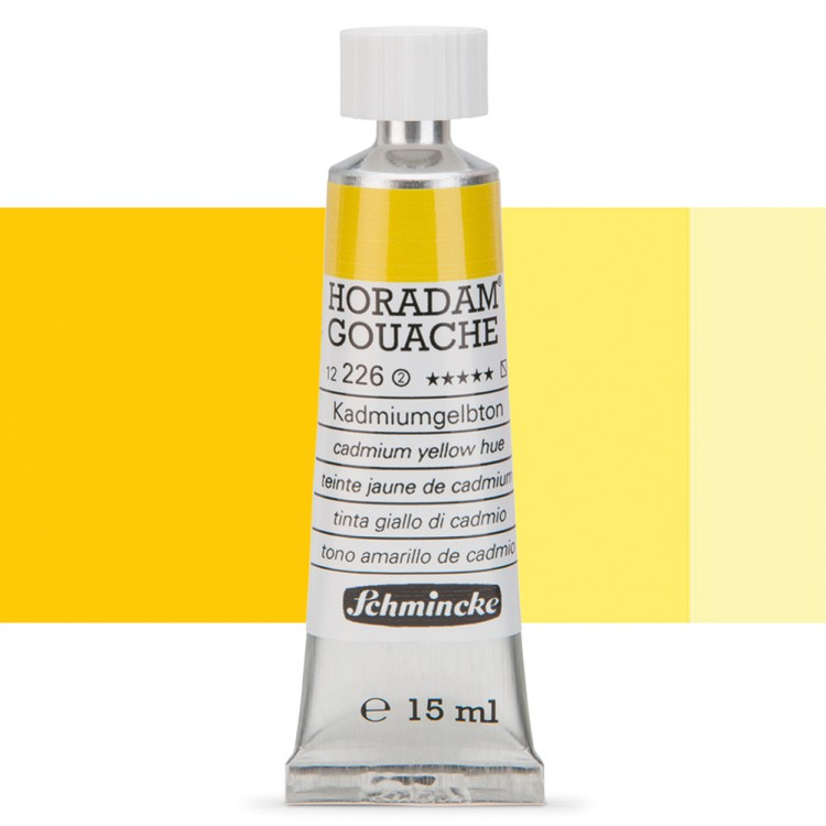 Schmincke : Horadam Gouache Paint : 15ml : Cadmium Yellow Hue