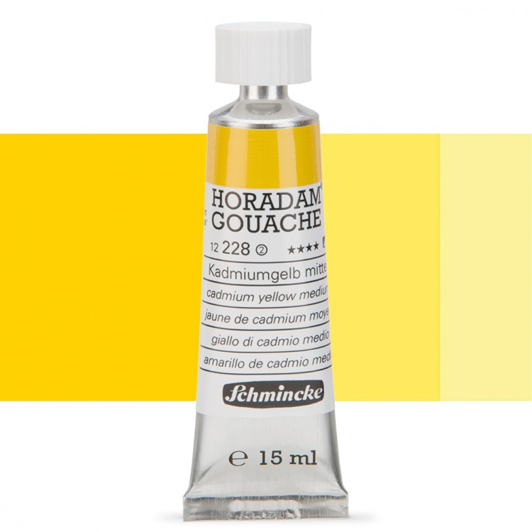 Schmincke : Horadam Gouache Paint : 15ml : Cadmium Yellow Middle