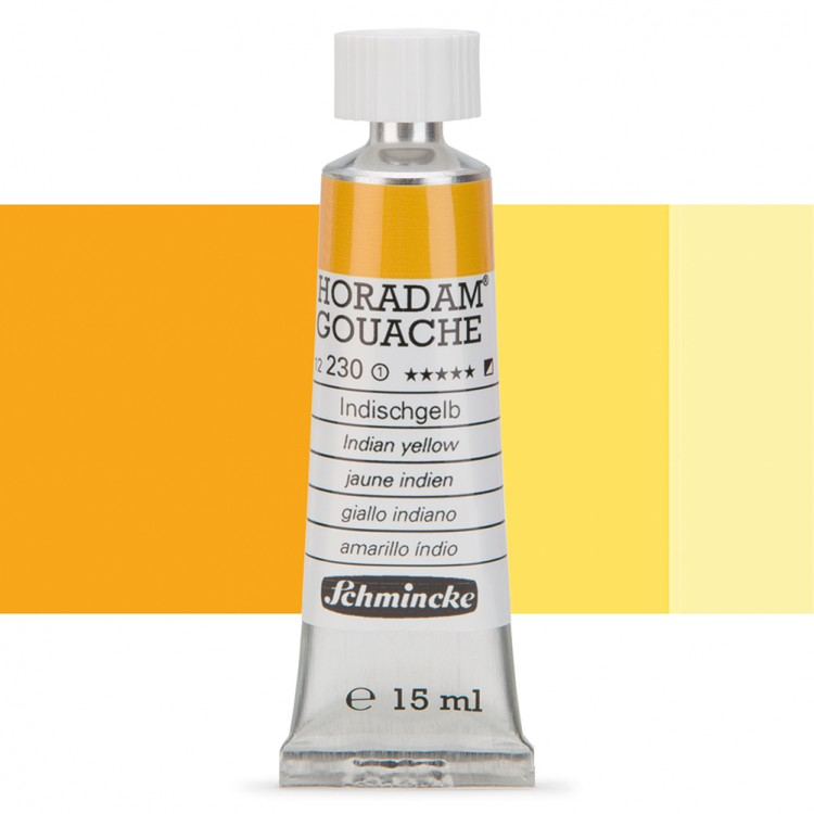 Schmincke : Horadam Gouache Paint : 15ml : Indian Yellow