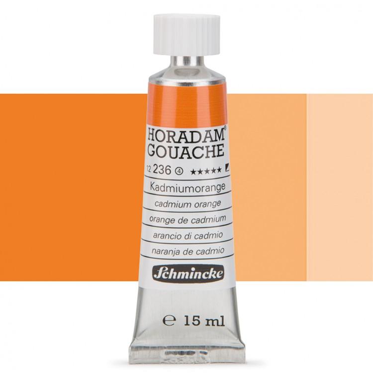 Schmincke : Horadam Gouache Paint : 15ml : Cadminum Orange