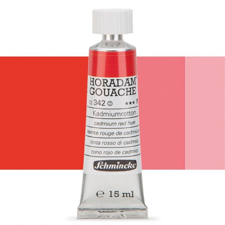 Schmincke : Horadam Gouache Paint : 15ml : Cadminum Red Hue