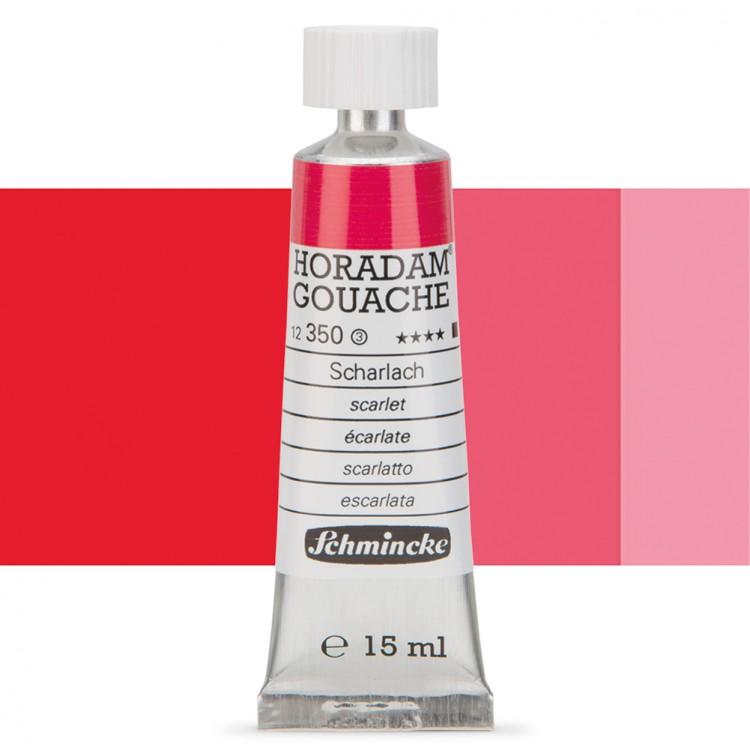 Schmincke : Horadam Gouache Paint : 15ml : Scarlet Red