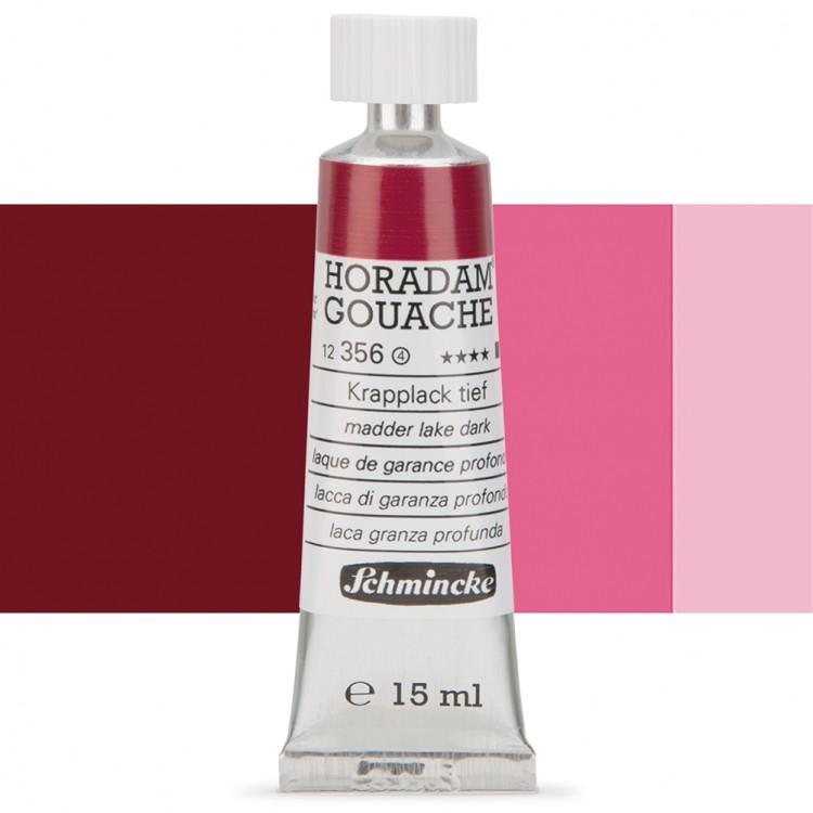 Schmincke : Horadam Gouache Paint : 15ml : Madder Red Dark