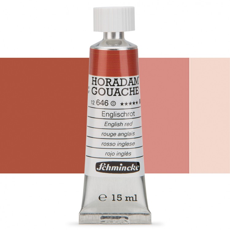 Schmincke : Horadam Gouache Paint : 15ml : English Red