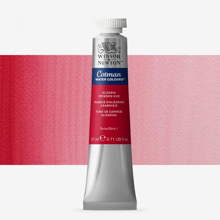 W&N : Cotman Watercolour Paint : 21ml : Tube Alizarin Crimson