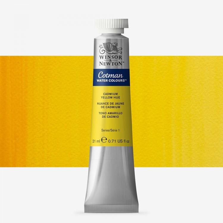 W&N : Cotman Watercolour Paint : 21ml : Tube Cadmium Yellow Hue