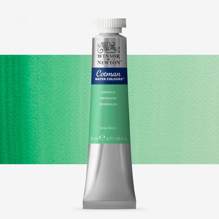W&N : Cotman Watercolour Paint : 21ml : Tube Emerald Green