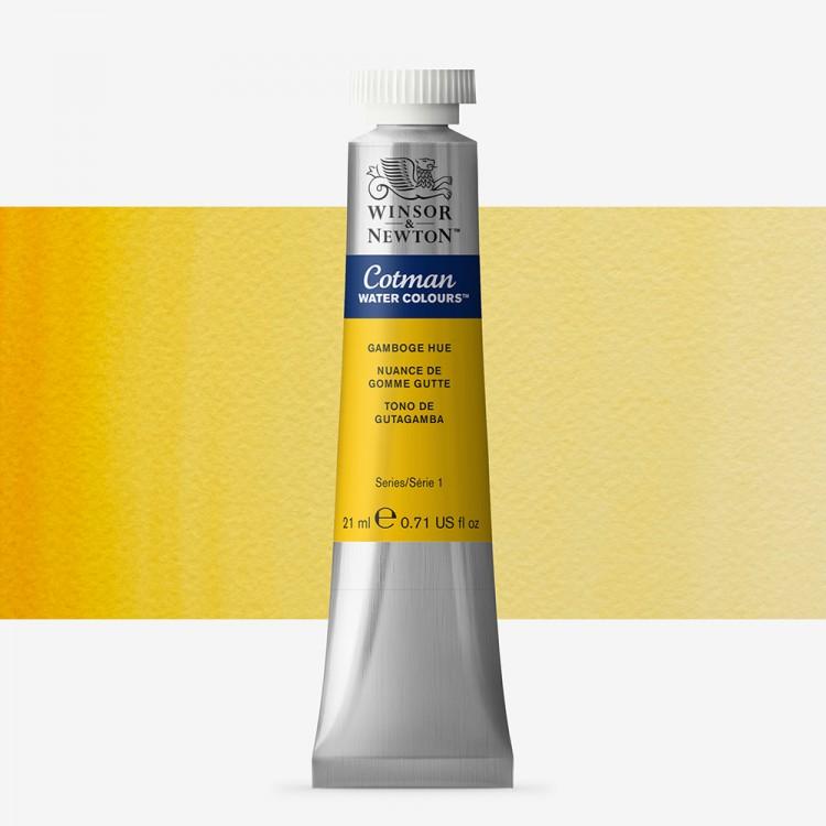W&N : Cotman Watercolour Paint : 21ml : Tube Gamboge Hue