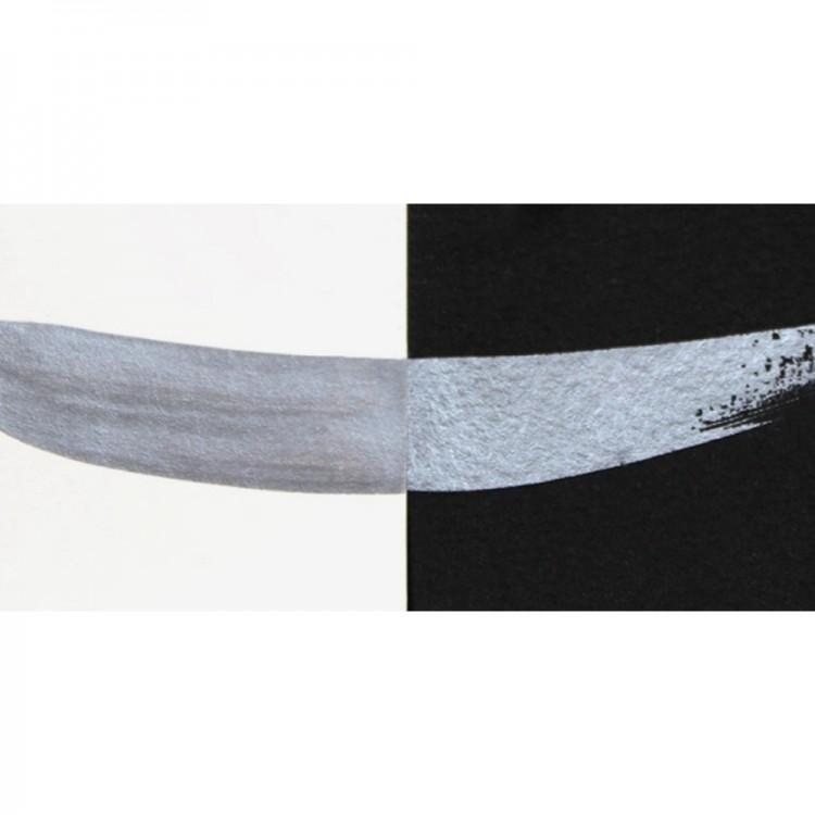 Finetec : Coliro : Pearlcolors : Mica Watercolour Paint : 30mm Refill : Silver-Grey M002