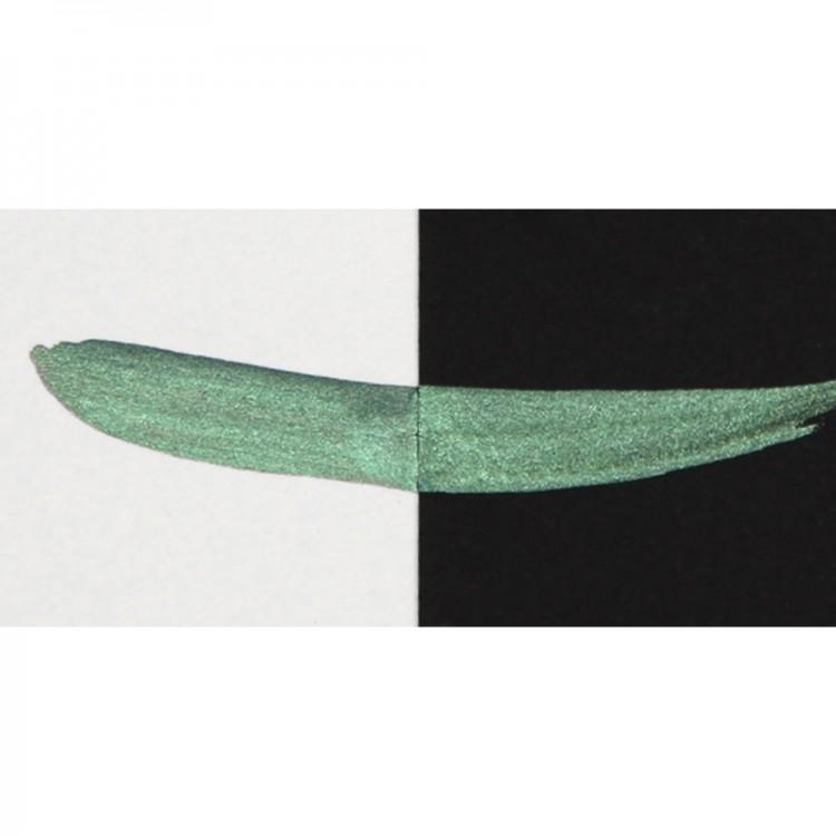 Finetec : Coliro : Pearlcolors : Mica Watercolour Paint : 30mm Refill : Moss Green M007