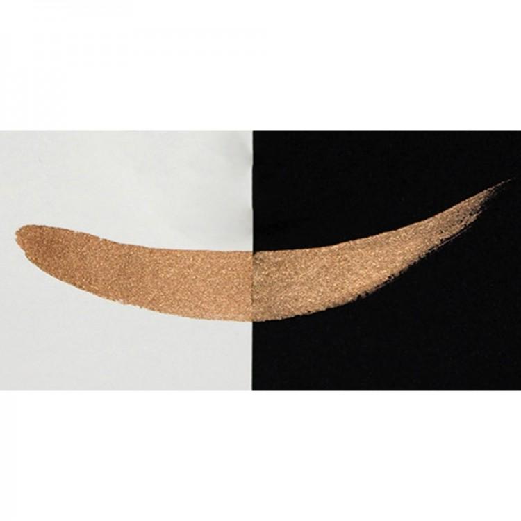 Finetec : Coliro : Pearlcolors : Mica Watercolour Paint : 30mm Refill : Walnut M022