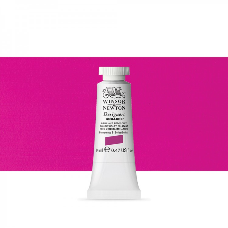 Winsor & Newton : Designer Gouache Paint : 14ml : Brilliant Red Violet