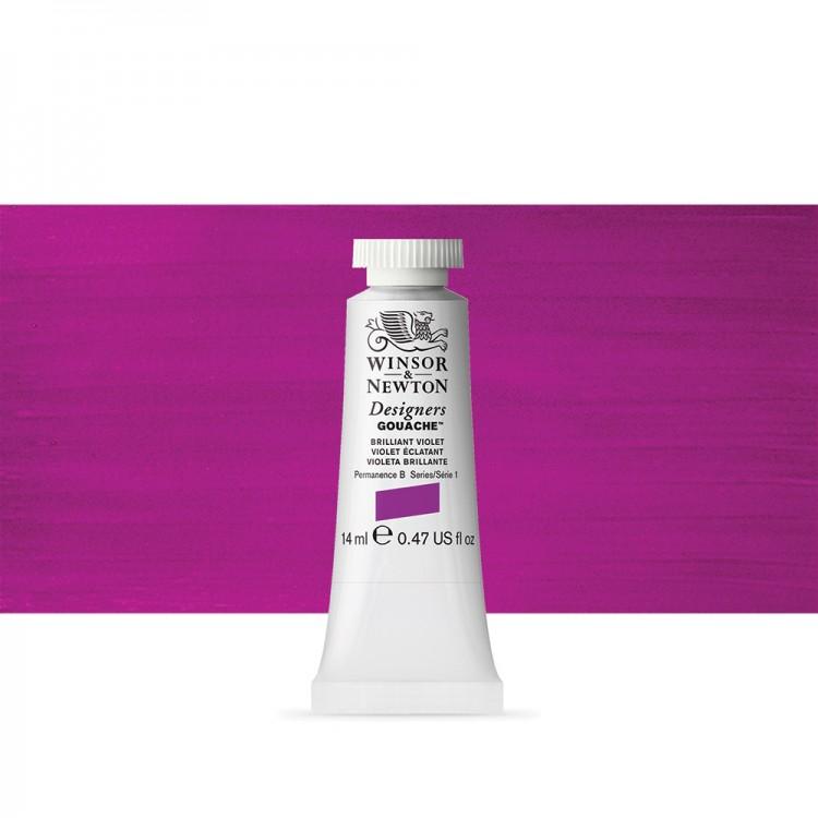 Winsor & Newton : Designer Gouache Paint : 14ml : Brillant Violet