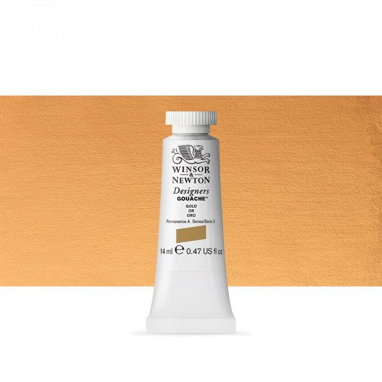 Winsor & Newton : Designer Gouache Paint : 14ml : Gold (Imitation)