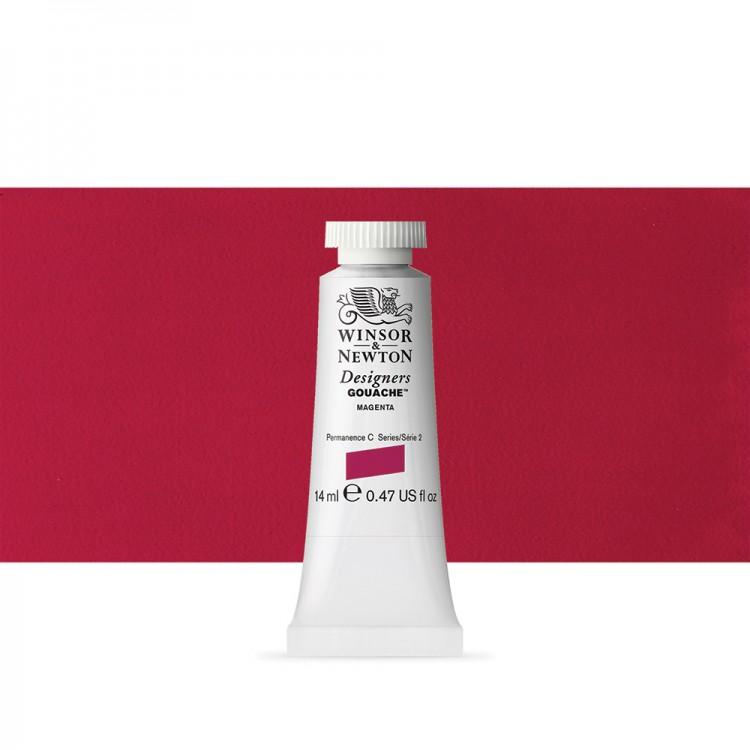Winsor & Newton : Designer Gouache Paint : 14ml : Magenta