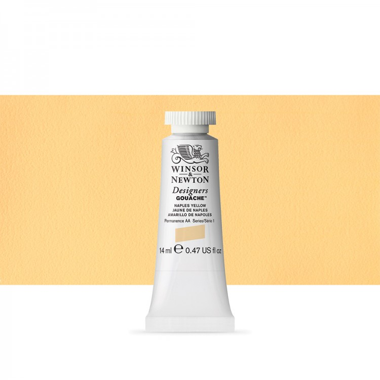 Winsor & Newton : Designer Gouache Paint : 14ml : Naples Yellow