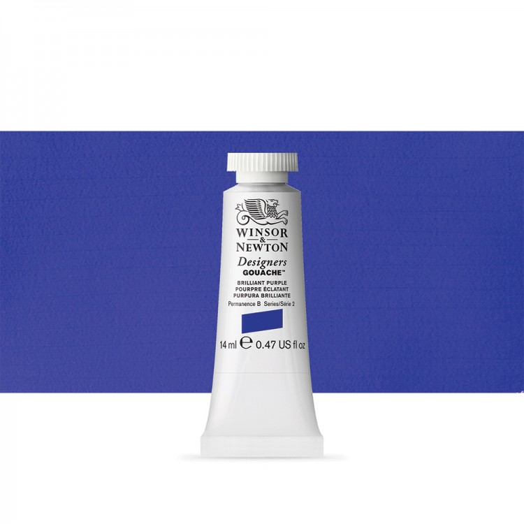 Winsor & Newton : Designer Gouache Paint : 14ml : Brilliant Purple