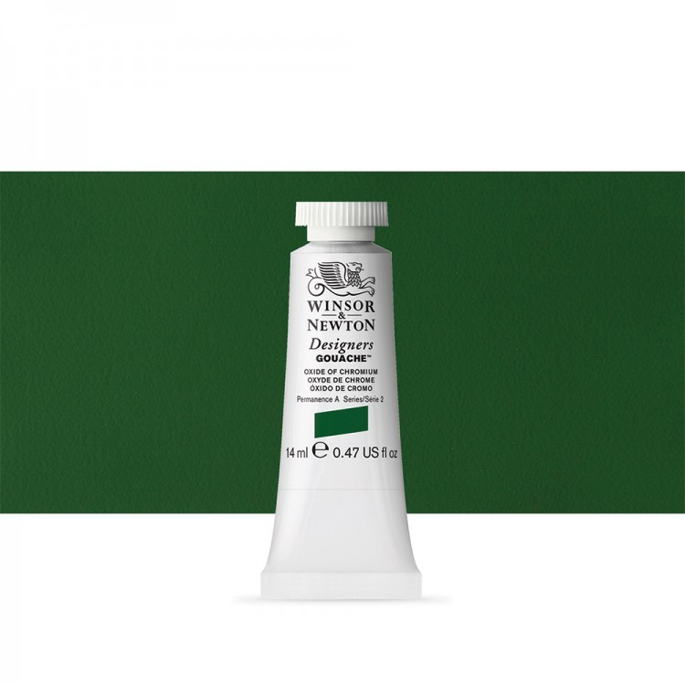 Winsor & Newton : Designer Gouache Paint : 14ml : Oxide Of Chromium