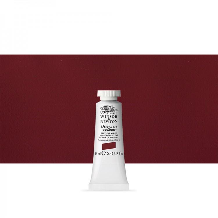 Winsor & Newton : Designer Gouache Paint : 14ml : Perylene Violet
