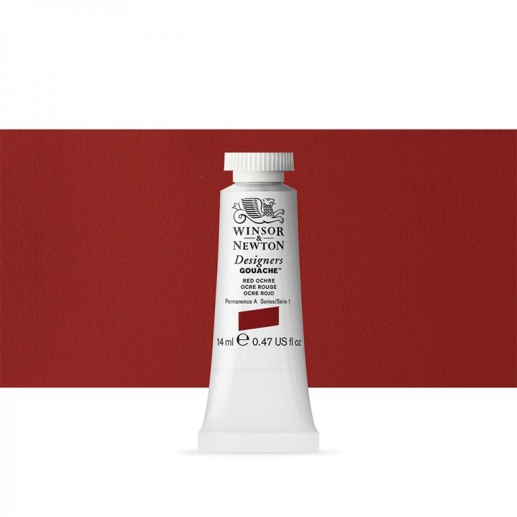 Winsor & Newton : Designer Gouache Paint : 14ml : Red Ochre