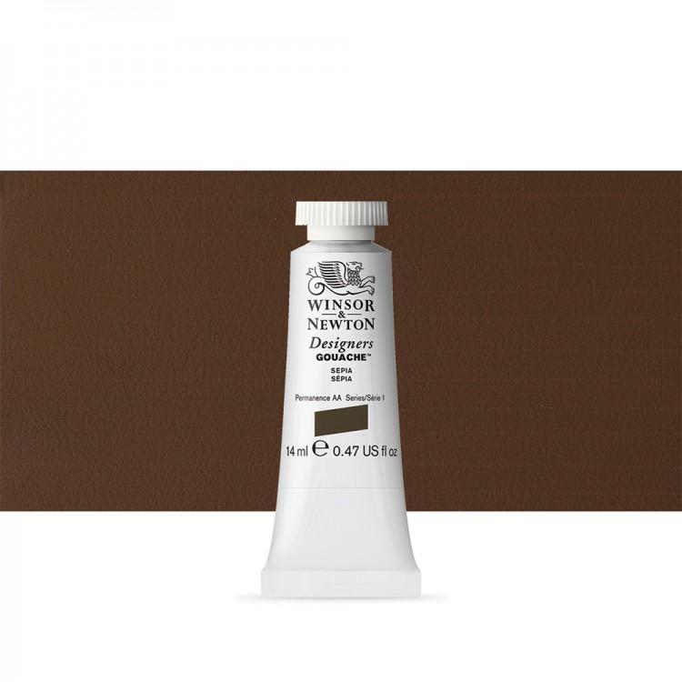 Winsor & Newton : Designer Gouache Paint : 14ml : Sepia