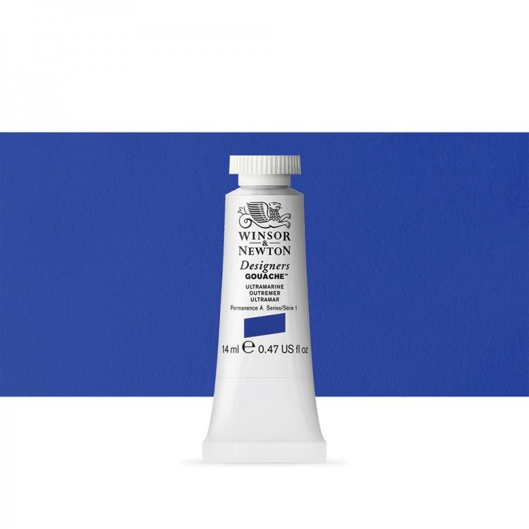 Winsor & Newton : Designer Gouache Paint : 14ml : Ultramarine