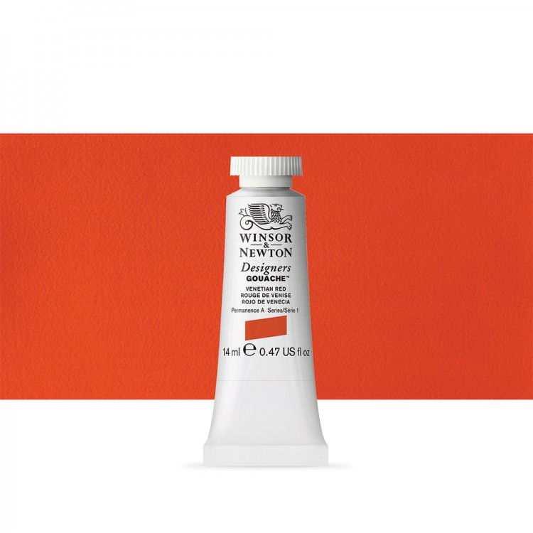Winsor & Newton : Designer Gouache Paint : 14ml : Venetian Red
