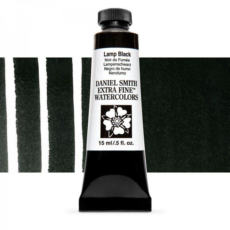 Daniel Smith : Watercolour Paint : 15ml : Lamp Black : Series 1
