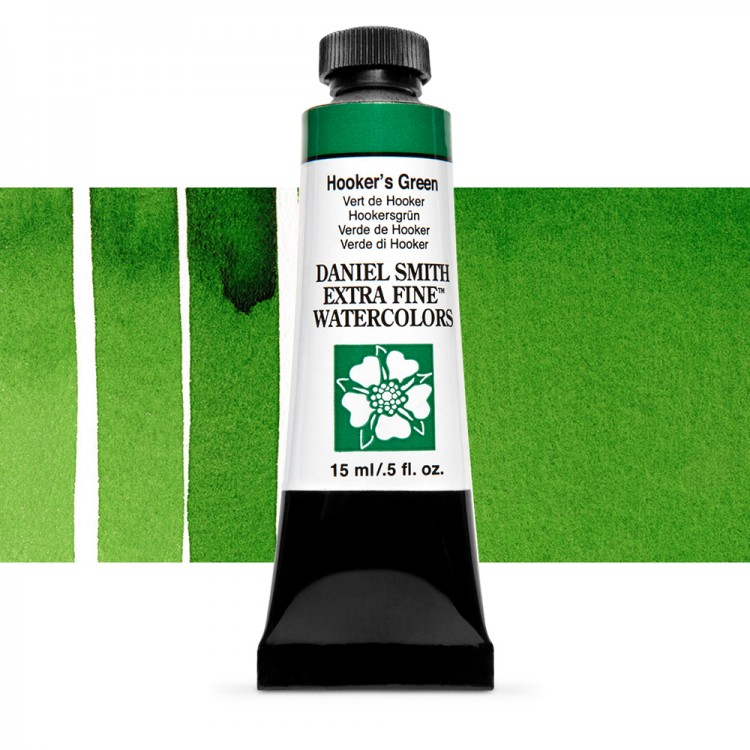 Daniel Smith : Watercolour Paint : 15ml : Hookers Green : Series 1