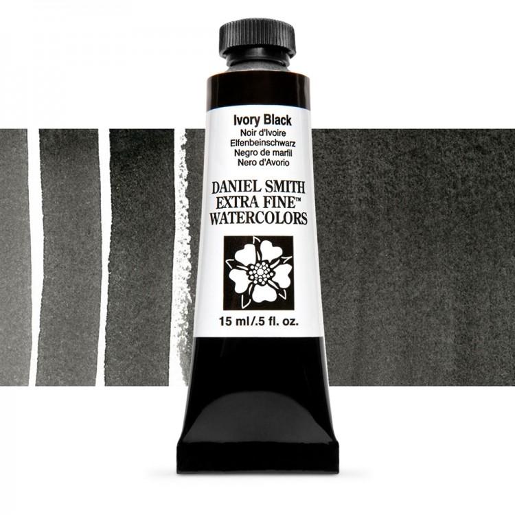 Daniel Smith : Watercolour Paint : 15ml : Ivory Black : Series 1
