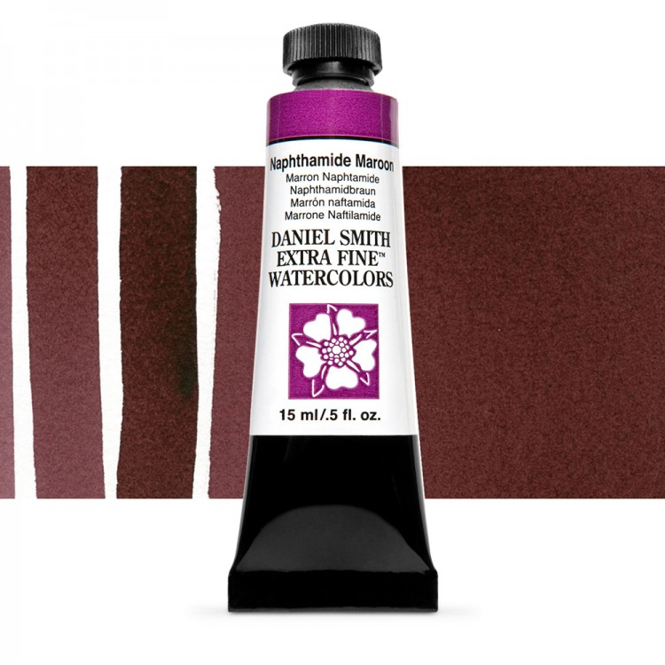 Daniel Smith : Watercolour Paint : 15ml : Naphthamide Maroon : Series 1