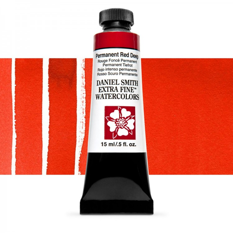 Daniel Smith : Watercolour Paint : 15ml : Permanent Red Deep : Series 1
