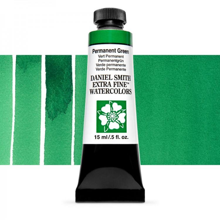 Daniel Smith : Watercolour Paint : 15ml : Permanent Green : Series 1