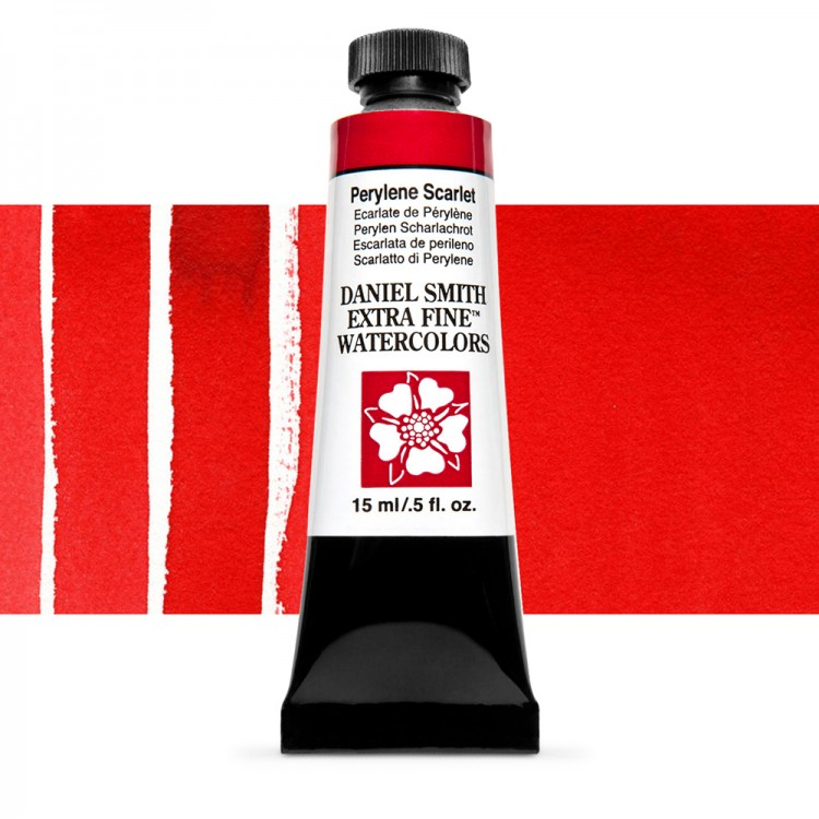 Daniel Smith : Watercolour Paint : 15ml : Perylene Scarlet : Series 3
